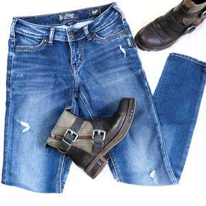 Silver Jeans   Distressed Suki Skinny